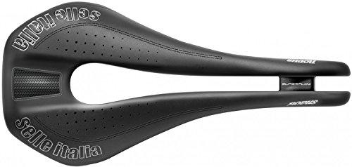 (selle ITALIA Unisex Novus Super Flow Ti316 Saddles, Black, Size L3)