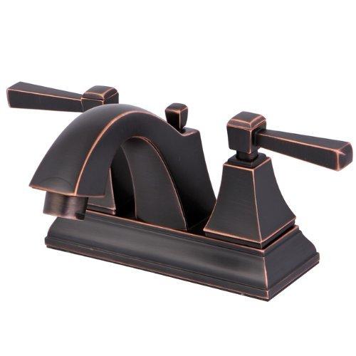 Naples 4 Centerset - Kingston Brass FS4646DL Monarch 4-Inch Centerset Lead Free Lavatory Faucet with Retail Pop-Up Drain, Naples Bronze by Kingston Brass