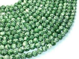 (Green Spot Jasper Beads, Round, 8mm, 15.5 Inch, (243054003) Crafting Key Chain Bracelet Necklace Jewelry Accessories Pendants)