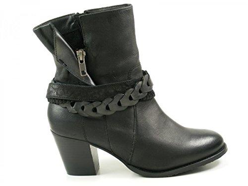 SPM 17286154 Alpina botas para mujer de cuero Schwarz