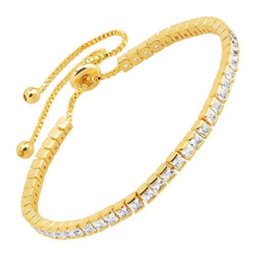 Tennis Bolo Bracelet With...