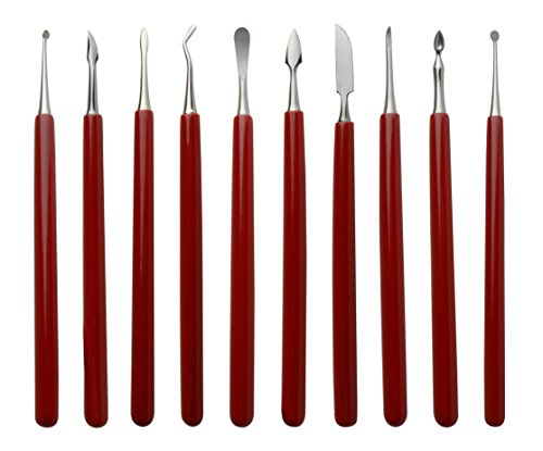 10 Pack of Soft Grip Wax Carvers Jewelry Making Wax Detailing Shaping Tool Set