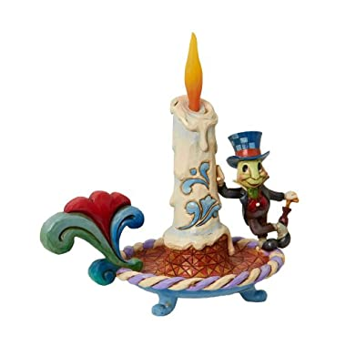 Disney Traditions designed by Jim Shore for Enesco Jiminy Cricket Electric Candle Figurine 7 IN