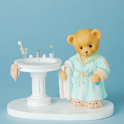 Cherished Teddies Wash and Brush To Bed I Rush Bedtime Bear Figurine 4038062 New - Figurine Bear Cherished Teddies