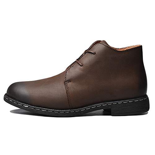 Cheville Confortable Chaussures Mens Jingrong Cuir Pu Air En Antidérapant Plein De Martin Chelsea Occasionnels Bottes Laçage Brown YqYwB7Ex