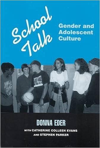 Book School Talk: Gender and Adolescent Culture