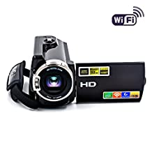 SEREE Camcorder WIFI Video Camera FHD 1080P 60FPS Night Vision Camcorder 20MP 16X Digital Zoom 3 Inch Touch Screen