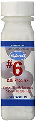 Hyland's Cell Salts #6 Kali Phosphoricum Tablets, Natural Relief of Stress, Simple Nervous Tension, Headaches