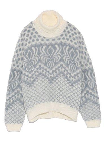 Amazon | Lily Brown(リリーブラウン)起毛ジャガードプルオーバー OWHT F | セーター 通販
