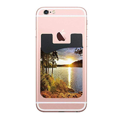 Sunset Dawn in The Forest Over Lake of Two Rivers Algonquin Park Ontario Canada Fashion 2 PCS Phone Card Holder, Stick-on Wallet for Apple Samsung and All -