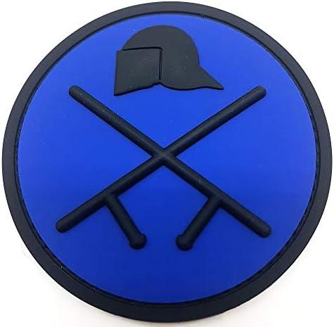 Riot Police Deep Blue PVC Patch