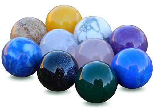 12mm Semi Precious Stone Marble Ball ()