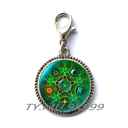Amulet Zipper Pull - Yao0dianxku pentacle Zipper Pull wicca protection amulet Pentagram Zipper Pull pentagram Fashion Zipper Pull wicca Zipper Pull pagan Zipper Pull wiccan jewelry gift for man.Y173 (2)