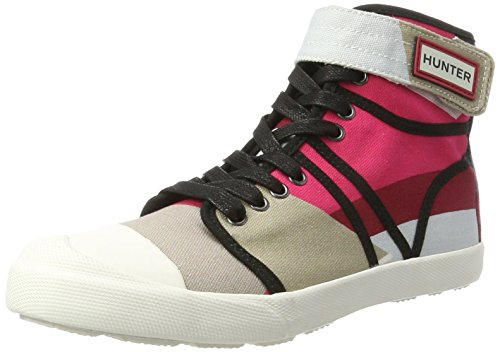 Hunter Womens Original Dazzle Hi Top, Baskets Montantes Femme Naturweiß/Schwarz