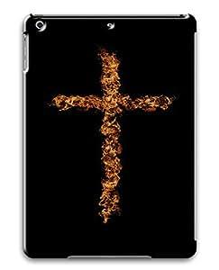 iPad Air Flame Art Cross PC Custom iPad Air Case Cover Black