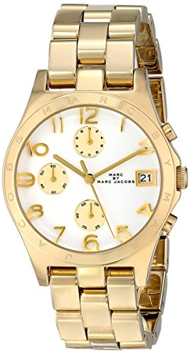 Marc Jacobs Henry Quartz Gold Tone Bracelet Women's Watch - MBM3039