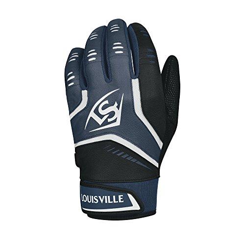 Louisville Slugger Omaha Adult Batting Gloves - Large, Navy
