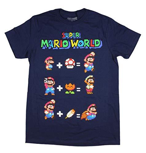 Price comparison product image Nintendo Men's Super Mario World T-Shirt Equation Video Game Fan Large