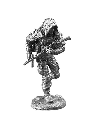 Ronin Miniatures US Special Forces Sniper Commando UnPainted Tin Metal Collection Toy Soldier Size 1/32 Scale Décor Accents 54mm for Home Collectible Figurines Best Gift ITEM #Ms-02