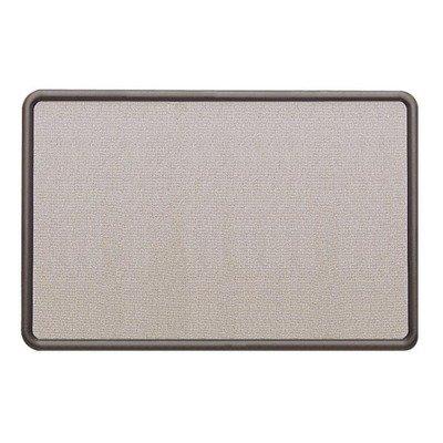 Quartet 7694G - Contour Fabric Bulletin Board, 48 x 36, Gray, Plastic Graphite Frame-QRT7694G - Gray Plastic Graphite Frame