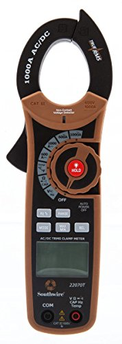 Southwire Tools & Equipment 22070T 1000A AC/DC TrueRMS Clamp Meter, Multimeter with 12 Functions ()
