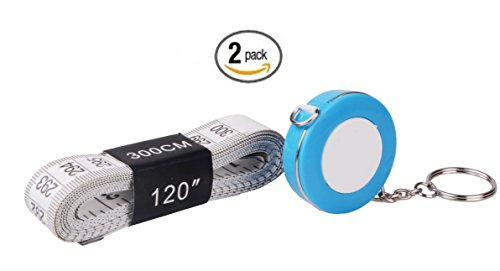 Third Goddess 60-Inch/1.5 Meter Soft and Retractable With Keychain 120-inch /3.0 Meter Flexible Double-scale Soft Tape Measure