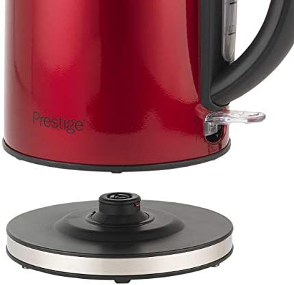 Prestige 46120 Cordless Kettle, Rapid Boil | 3000W | 1.7 Litre, Stainless Steel, 3000 W, 1.7 liters, Pearlescent Red