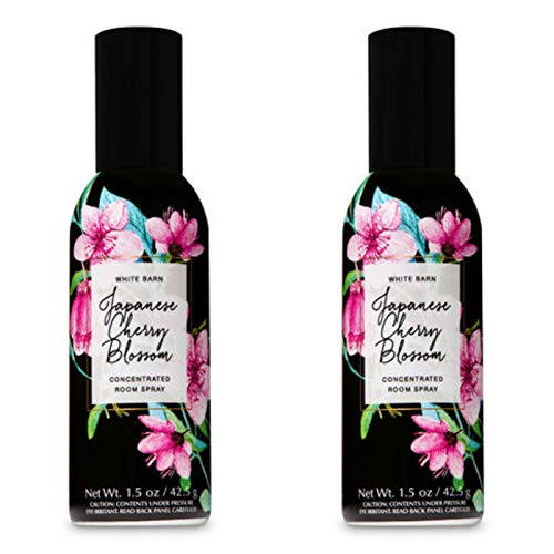 Bath and Body Works 2 Pack Concentrated Room Spray Japanese Cherry Blossom 1.50 - Spray White Blossom
