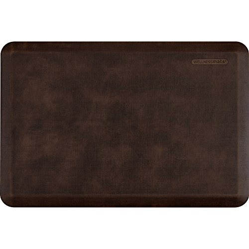 WellnessMats Anti-Fatigue 36 Inch by 24 Inch Linen Motif Kitchen Mat, Antique Dark by WellnessMats (Image #5)