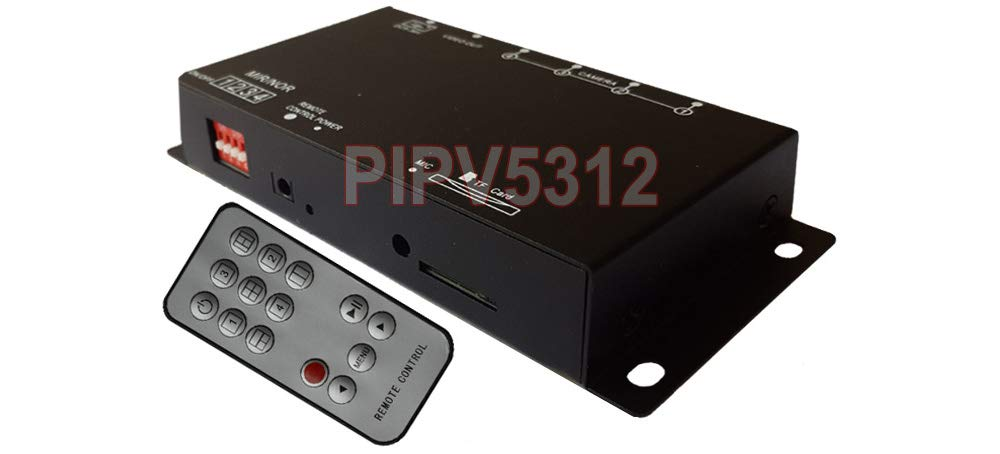 Premium Mini CCTV Video Recorder with Split-Screen Views + IR Remote by AllAboutAdapters