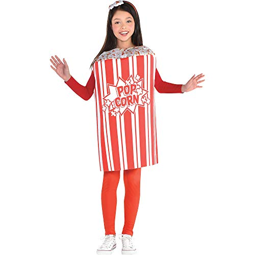 Suit Yourself Popcorn Halloween Costume for Girls, Standard, with Headband