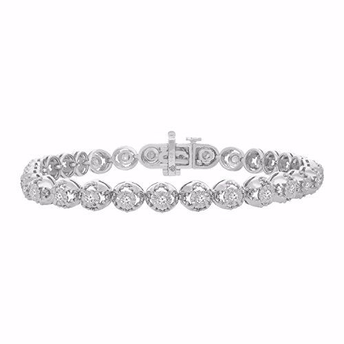 Sterling Silver Rose-Cut Diamond Bracelet (1.00 cttw, I-J color, I3 clarity) by Original Classics