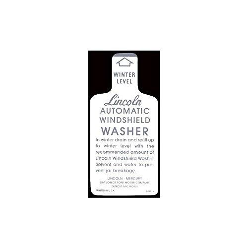 MACs Auto Parts 49-47830 Windshield Washer Bottle Bracket Decal - White And Gray (Bracket Bottle Windshield Washer)