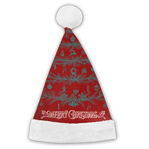 Bdna Velvet Santa Claus Hat Christmas Trees Merry Christmas Hats Adults Children Costume XMas Decor Party Supplies Medium (Lights Led Tesco Christmas Tree)