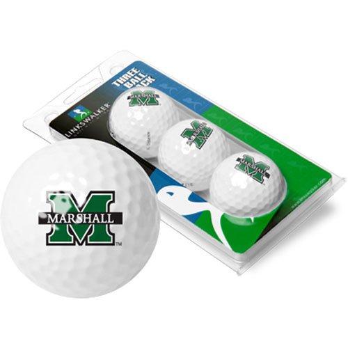 (NCAA Marshall University Thundering Herd - 3 Golf Ball)