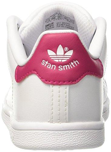 adidas Unisex Baby Stan Smith I Gymnastikschuhe Elfenbein (Ftwwht/ftwwht/bopink)