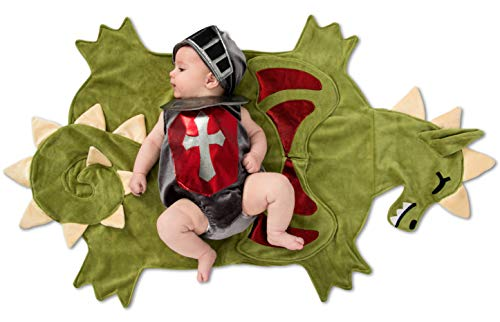 Baby Medieval Costume (Princess Paradise Swaddle Wings Dragon Slayer Baby Costume, As Shown, 0-3)