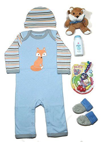 "Sunshine Gift Baskets - ""The Fox"" Newborn Baby Gift Set"