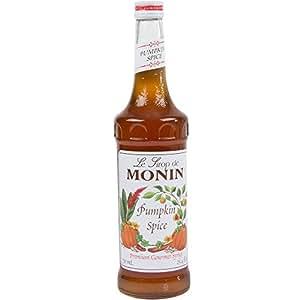 Monin Pumpkin Spice Syrup (1 Single 750 ml bottle)