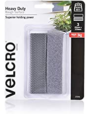 VELCRO Brand - Heavy Duty Hook & Loop Fasteners   Superior Holding Power on Rough Surface   50mm x 100mm  Strips   Pack of 2   Black