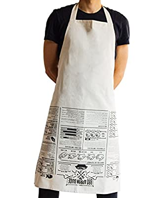 SUCK UK Apron Cooking Guide from AMZN9