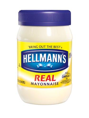 Hellmann's Real Mayonnaise, 15 Ounce Jars (Pack of 3)