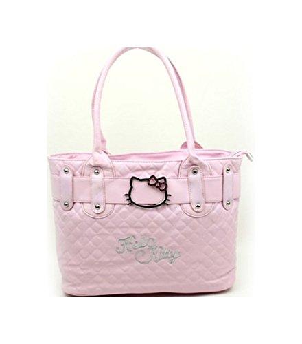 New Hellokitty HandBag PU Leather-like Shoulder Tote bag Fashion classic 2 (Pink)