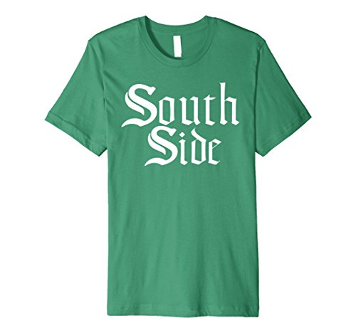 Mens SOUTH SIDE Chicago Custom Classic White Font T Shirt Medium Kelly Green