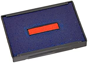 U. S. Stamp & Sign Trodat T4727 Dater Replacement Pad, 1.625 Inches Width x 2.5 Inches Depth, Red/Blue (P4727BR)