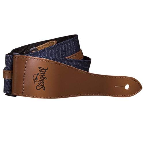 Seagull Model #042173 Santa Cruz Series Navy Blue Guitar Strap with Stamped Logo by Seagull