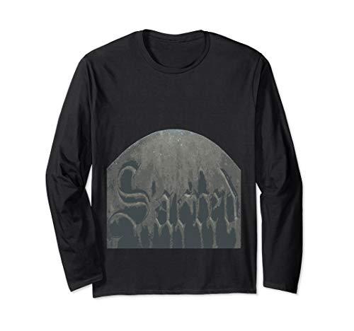 Sacred Gothic Text Halloween Gravestone  Long Sleeve T-Shirt]()
