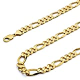 14k-Yellow-Gold-11mm-Figaro-31-Concave-Chain-Necklace--26