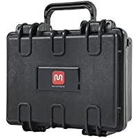 Monoprice Weatherproof Hard Case with Customizable Foam, 10 x 8 x 4