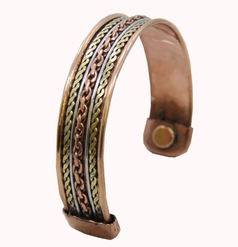 Powerful Magnetic Copper Cuff Bracelet for Arthritis and Golf Sport Aches and Pains, Health Care Stuffs